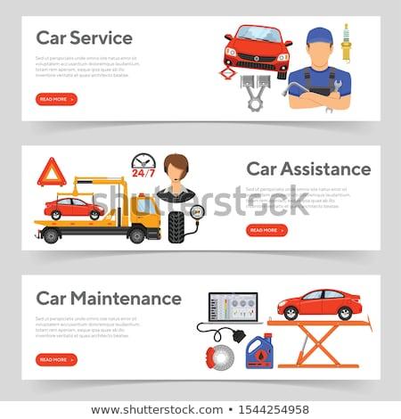 útszéli javítás autó szolgáltatás autó garázs Stock fotó © jossdiim