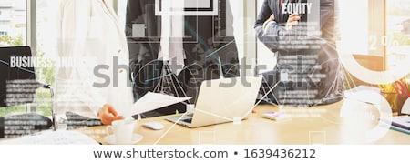 Iş istatistik afiş satış Stok fotoğraf © RAStudio