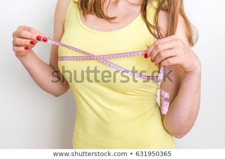 Kobieta biustonosz rozmiar centymetrem kobiet Zdjęcia stock © HighwayStarz