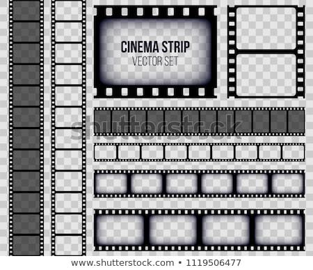 Film strip rotolare videocamera in bianco e nero vettore vecchio Foto d'archivio © pikepicture