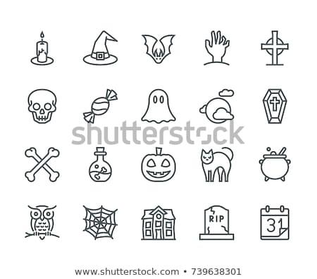 bat · icon · vector · schets · illustratie · teken - stockfoto © pikepicture