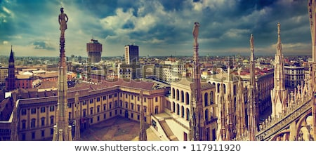 Milan Itália panorama ver catedral céu Foto stock © ShustrikS