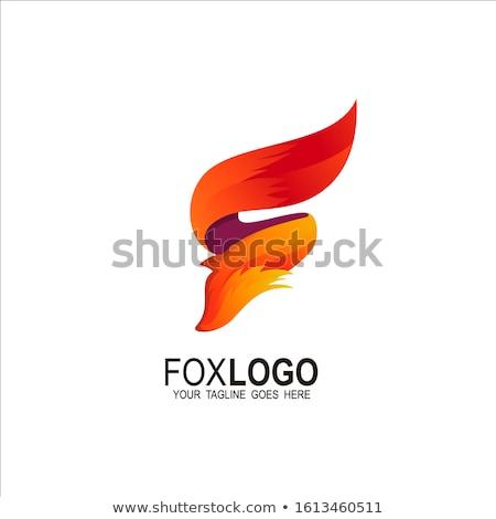 Vos staart brand logo alfabet Stockfoto © vector1st