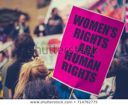 Rechten feminisme moderne feminist vrouwen zusters Stockfoto © leedsn