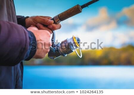 удочка расплывчатый небе воды стороны фон Сток-фото © cookelma
