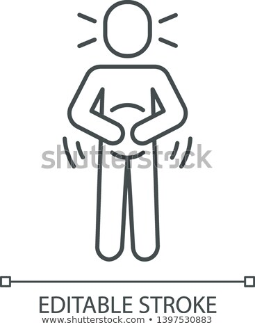 Nausea Symptomp Of Pregnancy Vector Thin Line Icon Stock photo © pikepicture