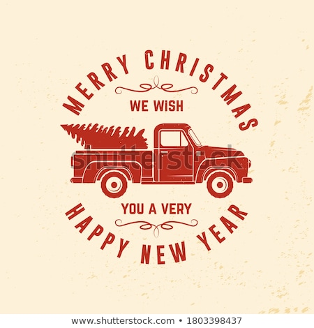 We Wish You Very Merry Christmas Greeting Card Stock photo © robuart