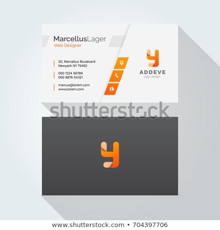Trillend schone visitekaartje moderne sjabloon ontwerp Stockfoto © SArts