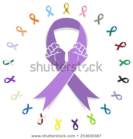 Las manos en alto mundo cáncer día conciencia mano Foto stock © SArts