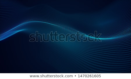 glowing digital particle wave digital technology background Stock photo © SArts