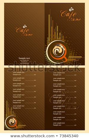 Evőeszköz szett menü kártya sablon terv Stock fotó © Terriana