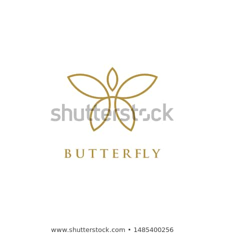 natural beauty butterfly logo concept spa symbol icon vector design illustration Stock photo © gothappy