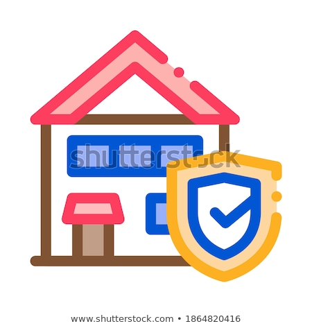Protective House from Rat Icon Vector Outline Illustration Stock photo © pikepicture