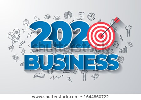 Creative Business Thinking Within 2020 Year Web Design Template Foto stock © Tashatuvango