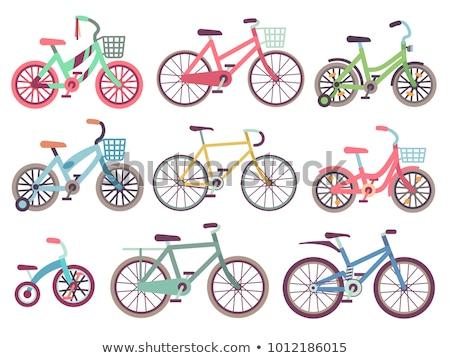 Establecer diferente bicicletas aislado blanco diseno Foto stock © DeCe