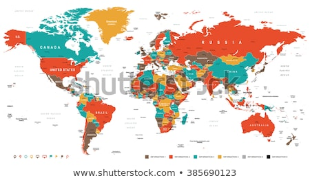 Colored detailed vector map of Asia Pacific Region Stock photo © nezezon