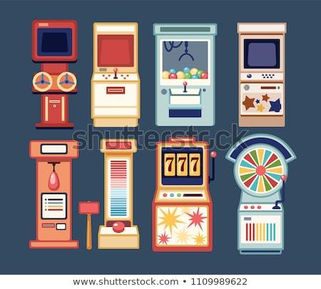 Gry maszyny koła hazardu urządzenie maszyn Zdjęcia stock © robuart