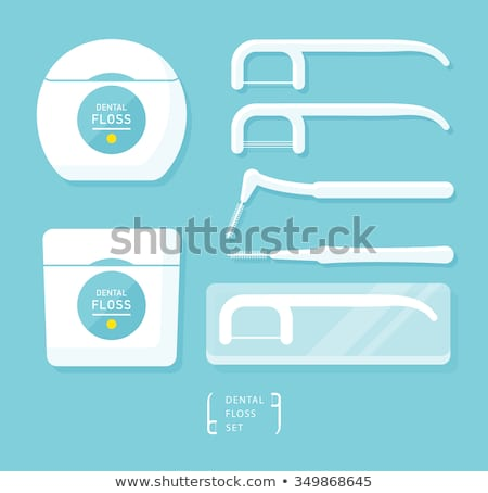 Soie dentaire hygiène outil dents boîte vecteur Photo stock © pikepicture