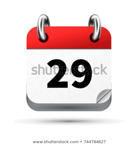 Bright realistic icon of calendar with 29 june date isolated on white Stock photo © evgeny89