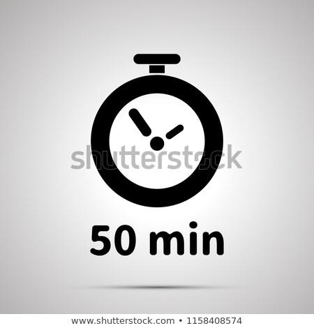 ötven jegyzőkönyv időzítő egyszerű fekete ikon Stock fotó © evgeny89