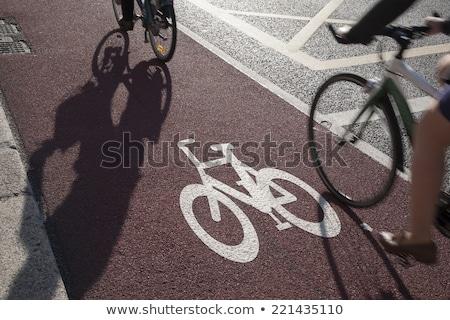 サイクル レーン サイクリスト 通勤 都市 ストックフォト © photosil