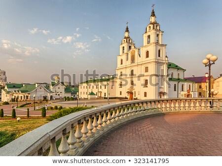 Kathedrale Weißrussland zentrale orthodox Kirche Stock foto © borisb17