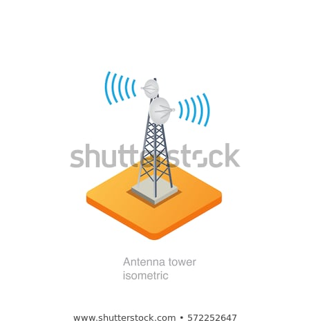 Radio Tower Antenna isometric icon vector illustration Stock photo © pikepicture