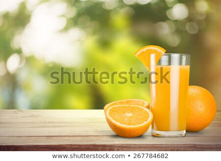 déjeuner · jus · d'orange · fraîches · fruits · table · manger - photo stock © ilolab