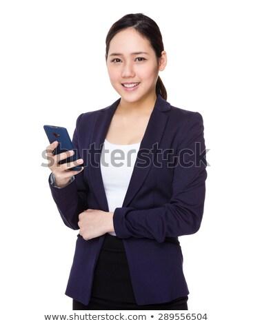 Stok fotoğraf: Portre · telefon · ofis · iş · bilgisayar · telefon