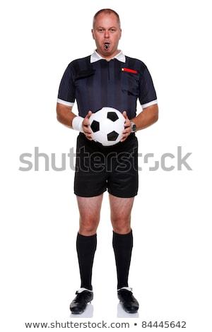 Futball döntőbíró teljes alakos izolált fehér fotó Stock fotó © RTimages