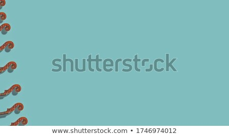 violín · desplazamiento · aislado · azul · horizontal · formato - foto stock © mkm3