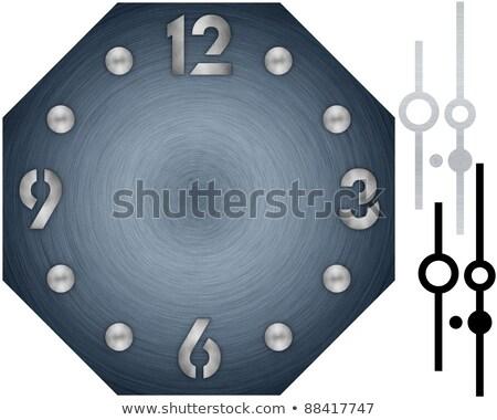 単純な クロック 金属 ダイヤル 番号 手 ストックフォト © erierika