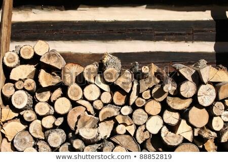 薪 国 コテージ 木材 自然 背景 ストックフォト © wjarek