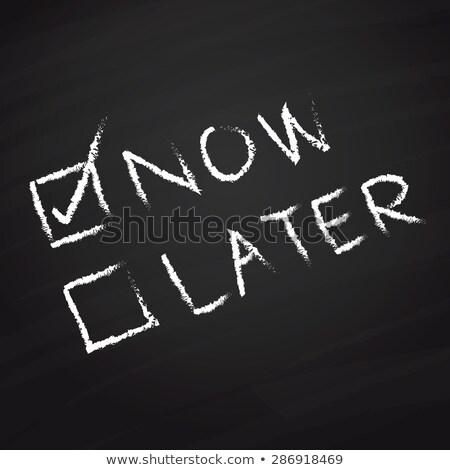 ahora · ayer · mañana · palabras · pizarra · tiempo - foto stock © bbbar