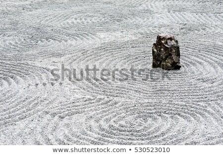 Sóder zen kert minta japán kő Stock fotó © Arrxxx