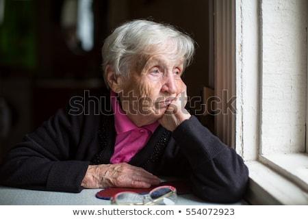 szomorú · öreg · hölgy · nő · idős · stressz · fájdalom - stock fotó © photography33
