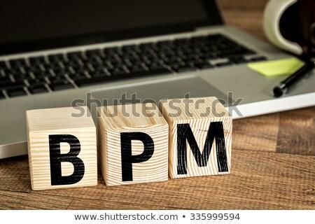 Kısaltma bpm iş süreç yazılı tahta Stok fotoğraf © bbbar