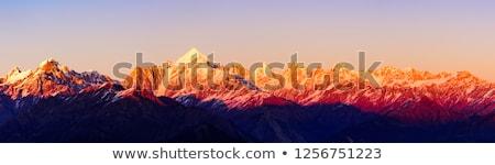 Sunset in Himalayas Stock photo © dmitry_rukhlenko