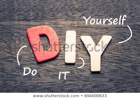 Acronym of DIY for Do It Yourself stock photo © bbbar