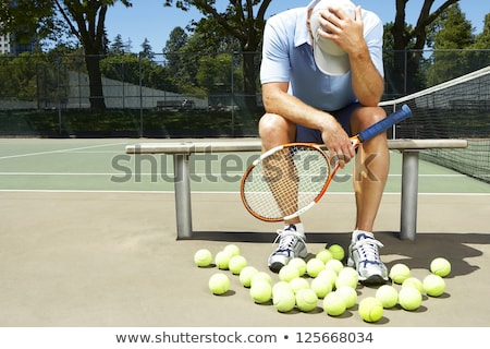 Tired man by tennis court Stock photo © photography33