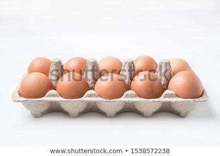 Easter Eggs in an Egg Carton Stock photo © albund