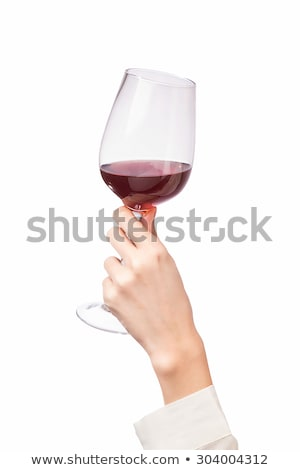 Sommelier holding wine glass Stock photo © photography33