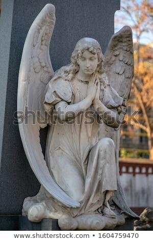 Oude kerkhof detail Berlijn verweerde grafsteen Stockfoto © prill