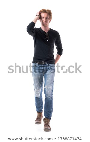 Man approaching from behind young blonde Stock photo © photography33