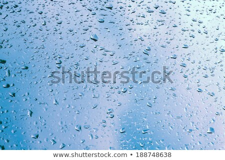 edge of a window and raindrops Stock photo © prill
