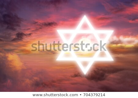 Glowing Star of David in clouds Stock photo © Balefire9
