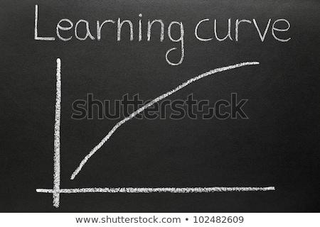 急 学習 曲線 黒板 ストックフォト © latent