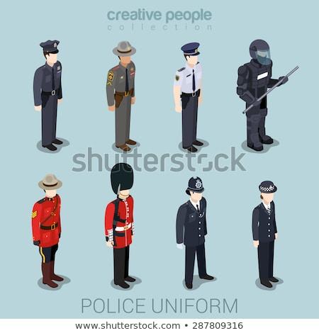 警官 · 泥棒 · 画像 · 警察官 · デザイン · 正義 - ストックフォト © vectomart