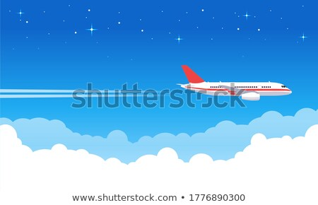 The image of aircraft flying high in the sky stock photo © jirisolecito