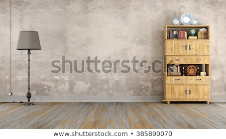 Gniazdo starych pokój elektryczne kabel grunge Zdjęcia stock © IMaster